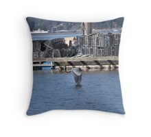 Blue Heron in Flight 3 Throw Pillow