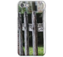 wooden fence iPhone Case/Skin