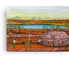 """Ned Kelly Raises The Eureka Flag"" Australia Original Sold Canvas Print"