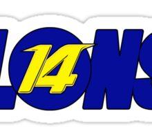 Alonso #14 Sticker