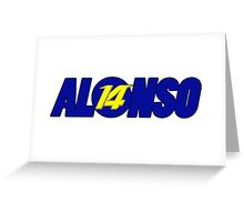 Alonso #14 Greeting Card