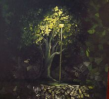 Night Tree by molliekathleen