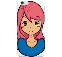 Cute girl illustration  iPhone Case/Skin