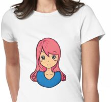 Cute girl illustration  Womens Fitted T-Shirt