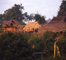 Dawn in a village of the Akha Hill Tribe. Northern Thailand. by Peter Stephenson