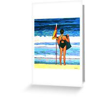 Aussie Girl Greeting Card