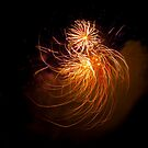 Fireworks in Abstract 01 by Aden Brown