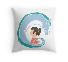 Haku and Sen Throw Pillow