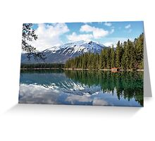 At One with Nature : Lac Beauvert, Jasper, Canada Greeting Card