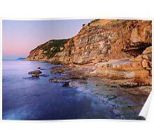Dawn light on Bau Rouge beach Poster