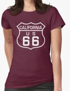 Route 66 California Womens Fitted T-Shirt