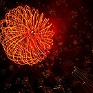 Fireworks in Abstract 02 by Aden Brown