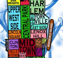 Color Coded Manhattan Sticker