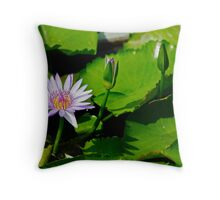 Grand Palace water lilly Throw Pillow