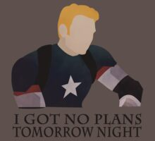 I got no plans Tomorrow Night - Captain America (Age of Ultron) by L4nd0