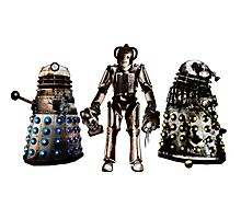 Destroyed Daleks and Rogue Cyberman Photographic Print