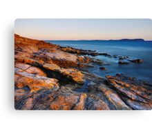 A colorful winter afternoon on the Mediterranean coast Canvas Print