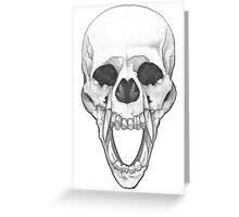 Skull of the Werewolf Greeting Card