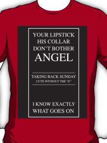 Taking Back Sunday (band) Cute Without the 'e' minimalist approach  T-Shirt