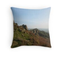 The Roaches, Peak District Throw Pillow