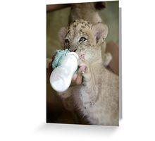 Thirsty Cub Greeting Card