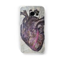 Anatomical heart illustration, original painting, old dictionary pages Samsung Galaxy Case/Skin
