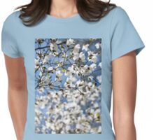 White fresh Magnolia spring bloom Womens Fitted T-Shirt