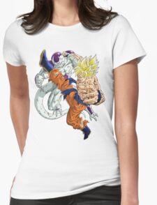 Goku vs. Frieza Womens Fitted T-Shirt