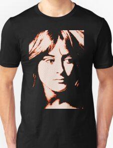 orange madonna on black with half tone screen Unisex T-Shirt