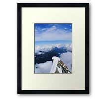 On top of the world... Framed Print