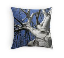 The strong, silent type... Throw Pillow