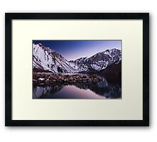 Last Light, Convict Lake Framed Print