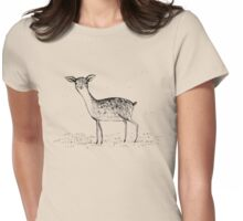Monochrome Deer Womens Fitted T-Shirt