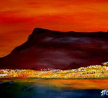 Cape Town - Hot Sunset by Mariaan Maritz Krog Fine Art Portfolio