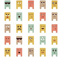 Square Monster Megamix Photographic Print