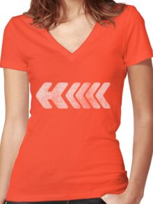 H - White Women's Fitted V-Neck T-Shirt
