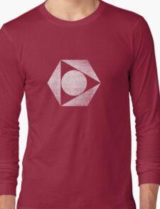 Tri Circle - White Long Sleeve T-Shirt