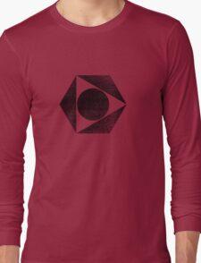 Tri Circle - Black Long Sleeve T-Shirt