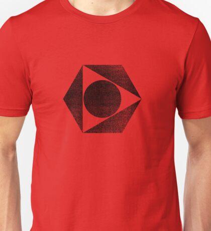 Tri Circle - Black Unisex T-Shirt
