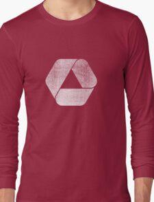 Overlap - White Long Sleeve T-Shirt