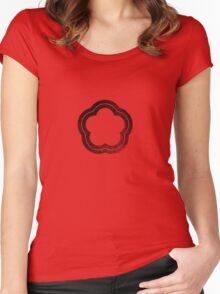 Flower - Black Women's Fitted Scoop T-Shirt