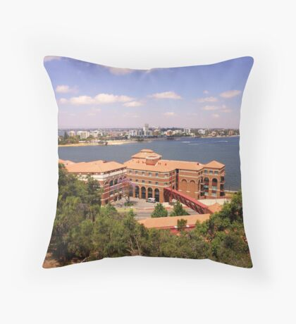 Swan Brewery Throw Pillow