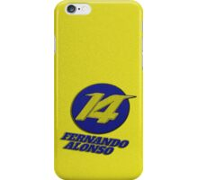 Fernando Alonso #14 (Formula One Race Number) iPhone Case/Skin