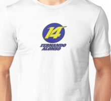 Fernando Alonso #14 (Formula One Race Number) Unisex T-Shirt