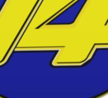 Fernando Alonso #14 (Formula One Race Number) Sticker