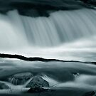 waterfall abstract by Dave  Higgins