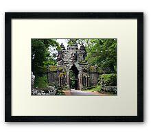 Angkor Thom gate - Cambodia Framed Print