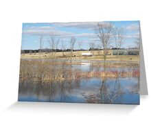 River Floods The Farmlands Greeting Card