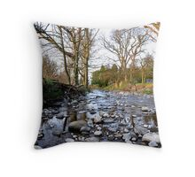 Leaving West Burton  Throw Pillow