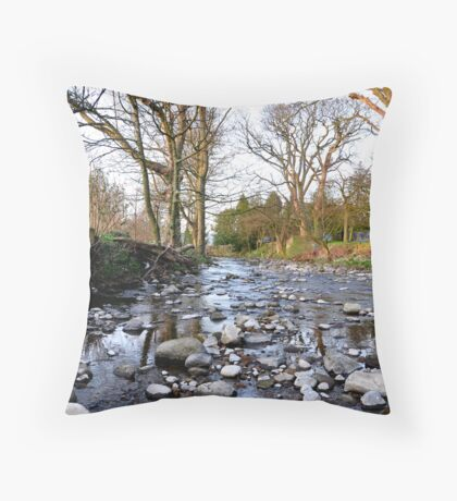Leaving West Burton  Throw Pillow